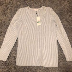BNWT Calvin Klein light blue soft knit sweater